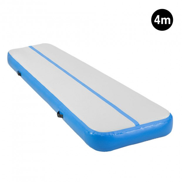4m Inflatable Gymnastics Mat Gym Air Track Tumbling Airtrack - Blue