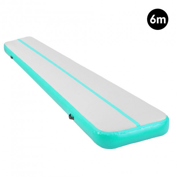 6m Inflatable Gymnastics Mat Gym Air Track Tumbling Airtrack - Green