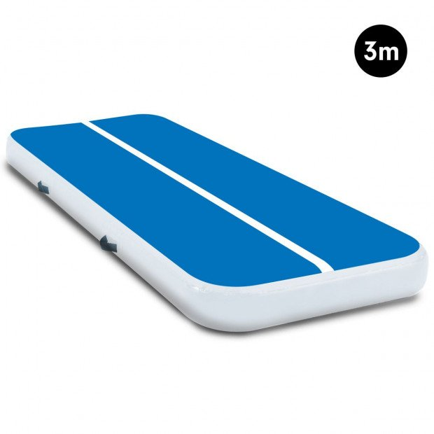 3m Airtrack Tumbling Mat Gymnastics Exercise Air Track - Blue White
