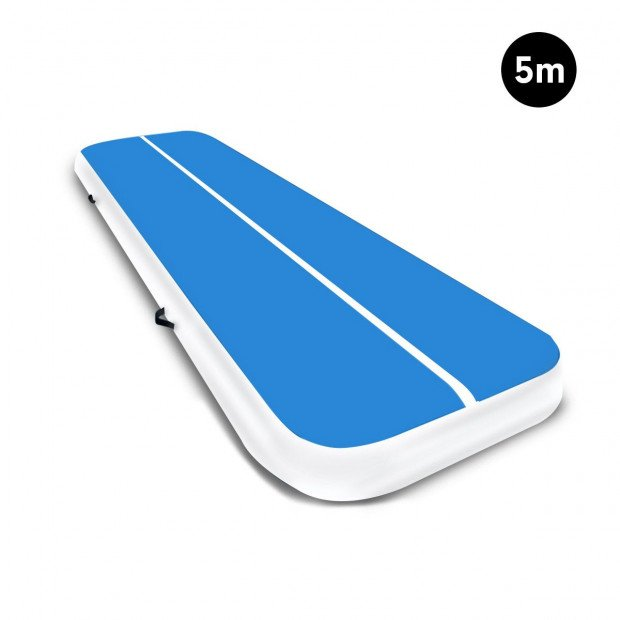 5m Airtrack Tumbling Mat Gymnastics Exercise 20cm Air Track Blue White
