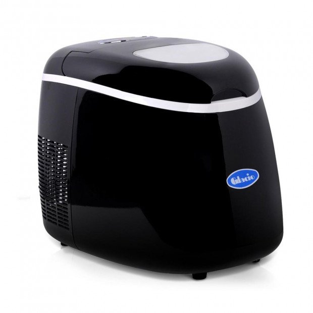 Portable Ice Cube Maker Machine Black 2L