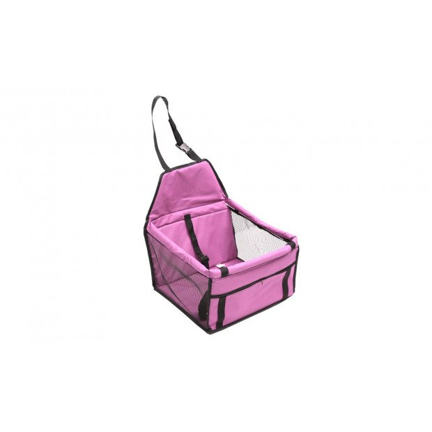 Pink Pet Car Booster Seat Puppy Cat Dog Auto Carrier Image 1