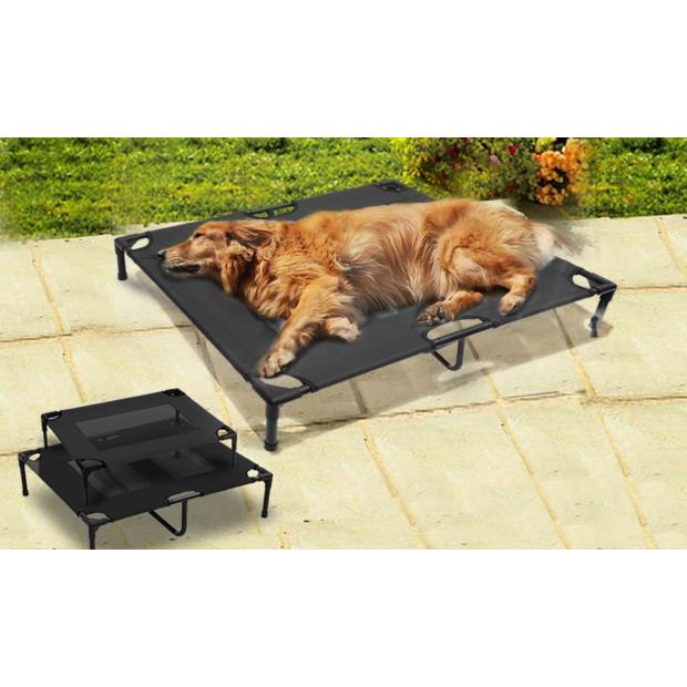 Black Heavy Duty Pet Bed Trampoline L