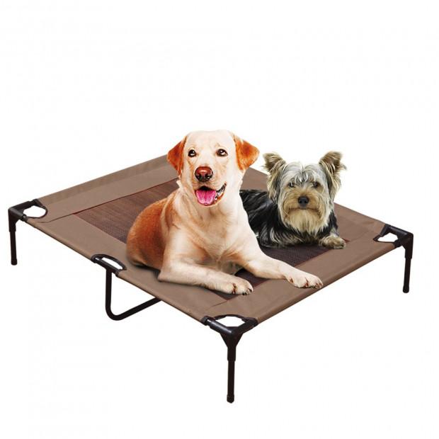 Pawz Heavy Duty Pet Bed Trampoline In Tan Large