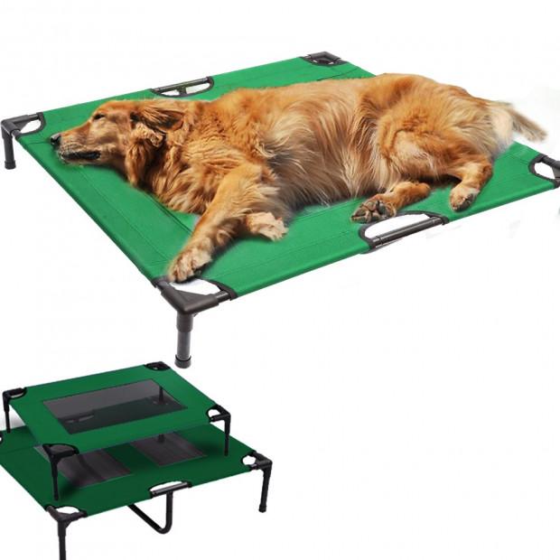 Heavy Duty Pet Dog Bed Trampoline Xl Green