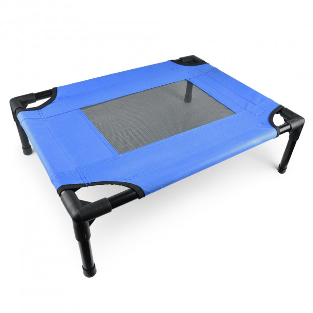 Heavy Duty Pet Dog Bed Trampoline Hammock Canvas Cat Cover Blue L