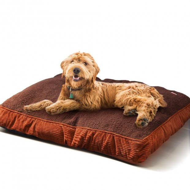 Washable Soft Pet Bed Mattress Cushion Brown M-size