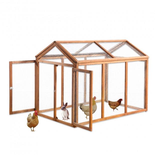 Rabbit Hutch Chicken Coop With Double Run