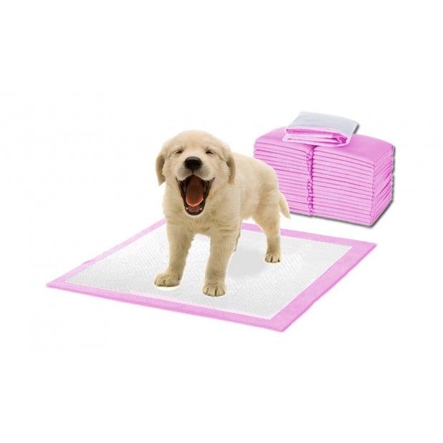 400 Pcs Puppy Pet Indoor Toilet Training Pads Pink