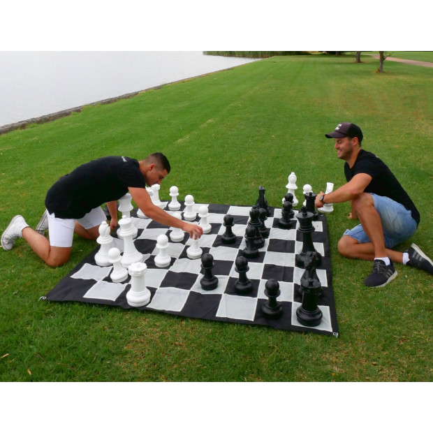Giant Size Plastic Outdoor Chess Game Set 1.5x1.5m Image 3