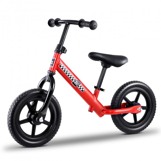 Kids Balance Bike Ride On Toys Puch Bicycle Wheels - Red