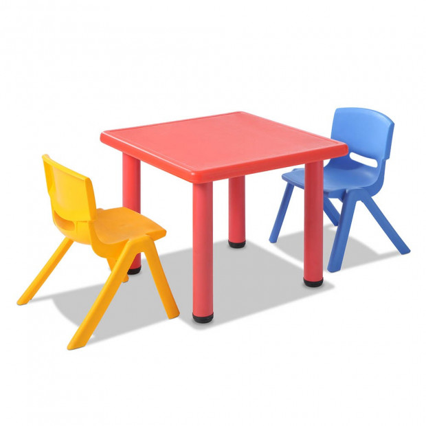 5 Pcs - Kids Table and Chairs Playset - Red Image 4