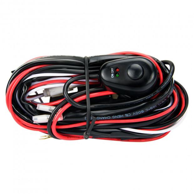 LED HID Wiring Loom Harness Spot Work Light bar 12V 40A Relay 2 Way
