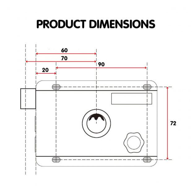 Push Button Digital Mechanical Combination Security Door Lock Chrome Image 6