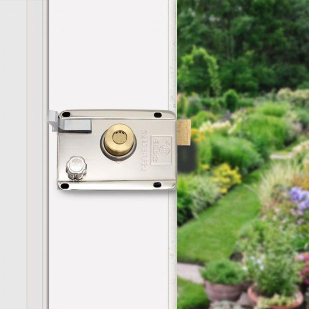 Push Button Digital Mechanical Combination Security Door Lock Chrome Image 8