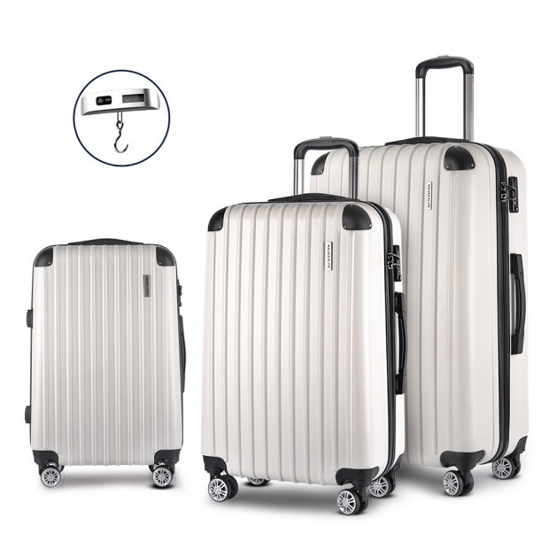 Luggage Case 3 PCS White