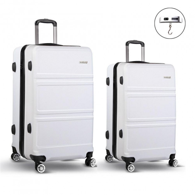 2pc Luggage Set 20in & 28in - White