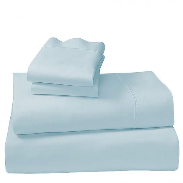 100% Cotton 1000TC Queen Sheet Set Blue