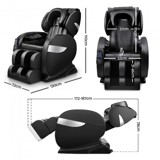 Livemor Electric Massage Chair - Black Image 1