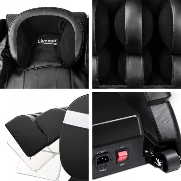 Livemor Electric Massage Chair - Black Image 5