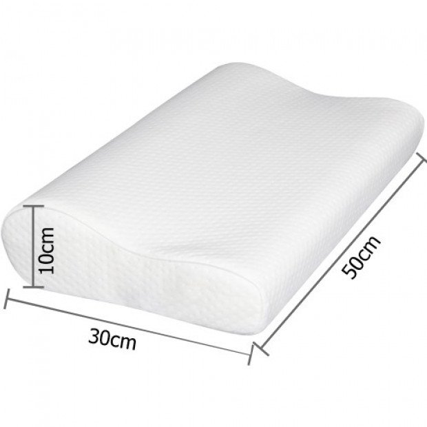 Set of 2 Visco Elastic Memory Foam Pillow Image 2