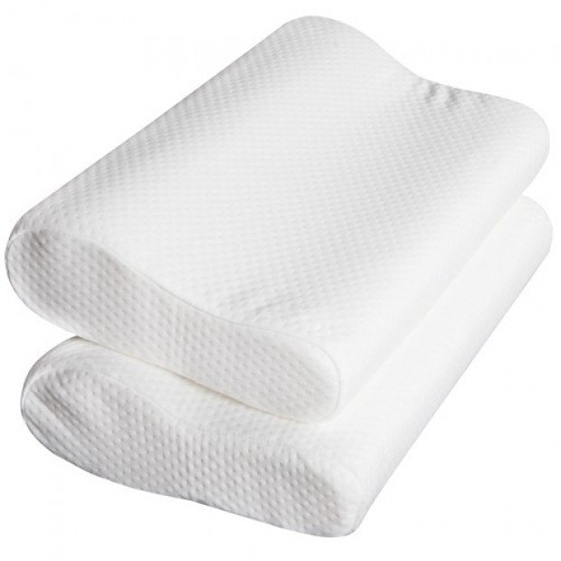 Set of 2 Visco Elastic Memory Foam Pillow Image 4
