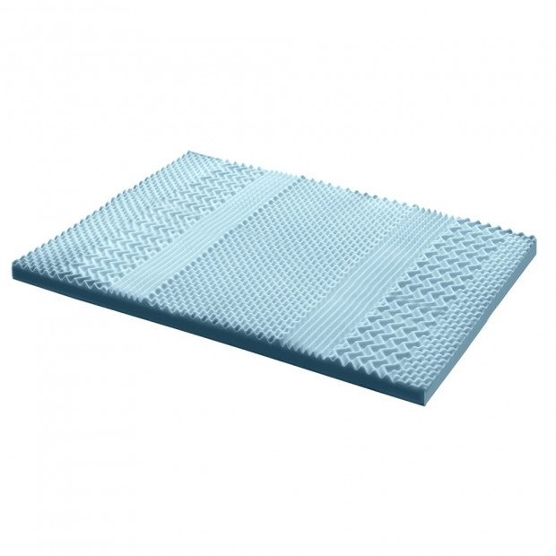 Bedding Cool Gel Memory Foam Mattress Topper Bamboo 8CM 7-Zone King