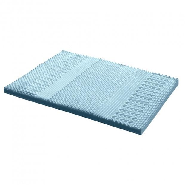 Cool Gel Memory Foam Mattress Topper Bamboo Cover 8CM 7-Zone Queen