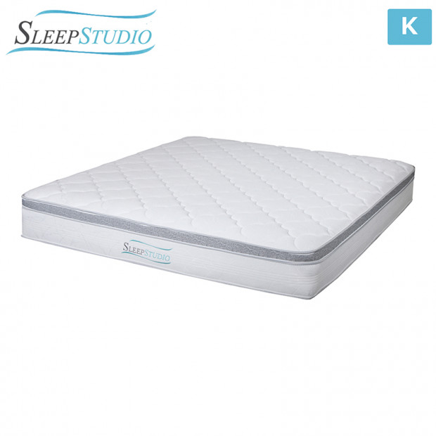 Memory Foam Euro Top Spring Bed  Mattress - King