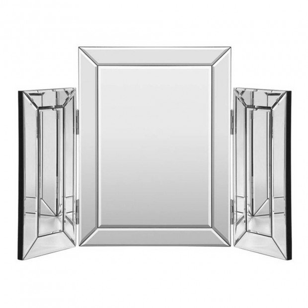 Mirrored Makeup Mirror Dressing Table Vanity Mirrors Foldable
