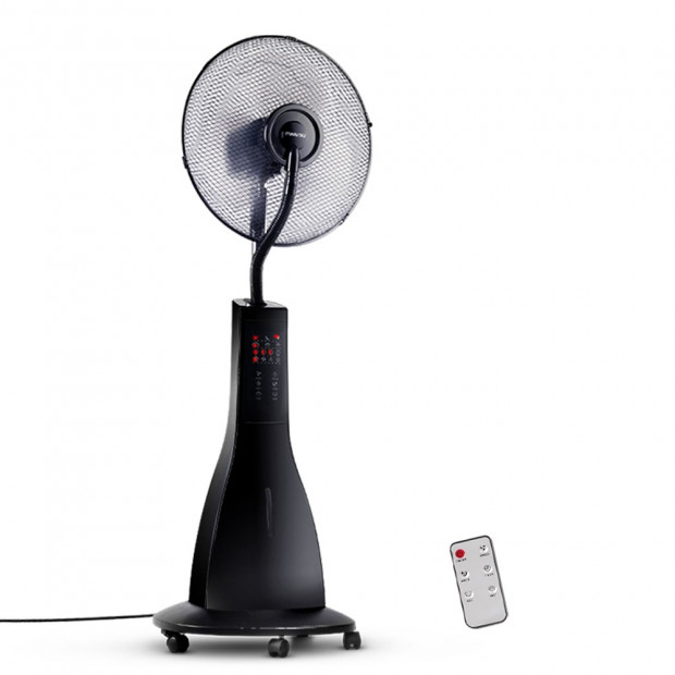 Portable Miting Fan with Remote Control - Black