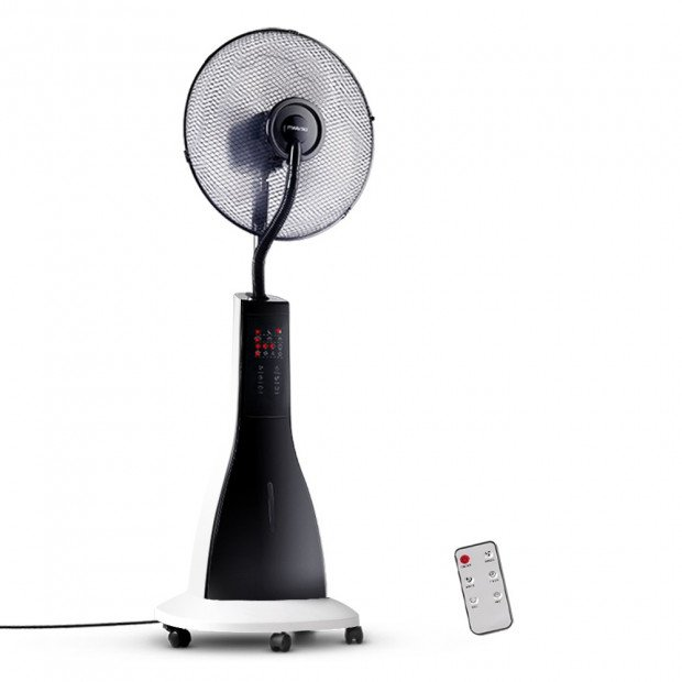 Portable Miting Fan with Remote Control - White
