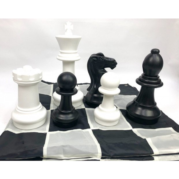 Giant Size Plastic Outdoor Chess Game Set 1.5x1.5m