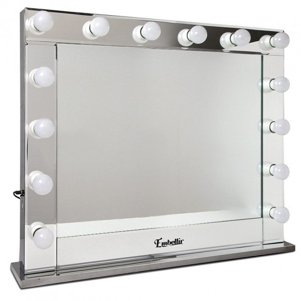 Make Up Mirror Aluminium Frame with LED Lights 65x80cm