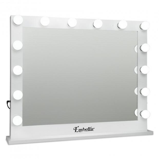 Make Up Mirror Frame with LED Lights 65x80cm White