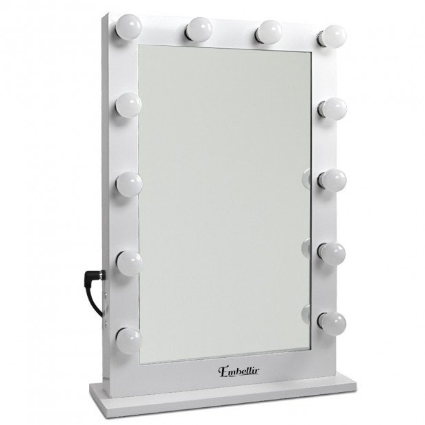 Make Up Mirror Frame with LED Lights 75x50cm White