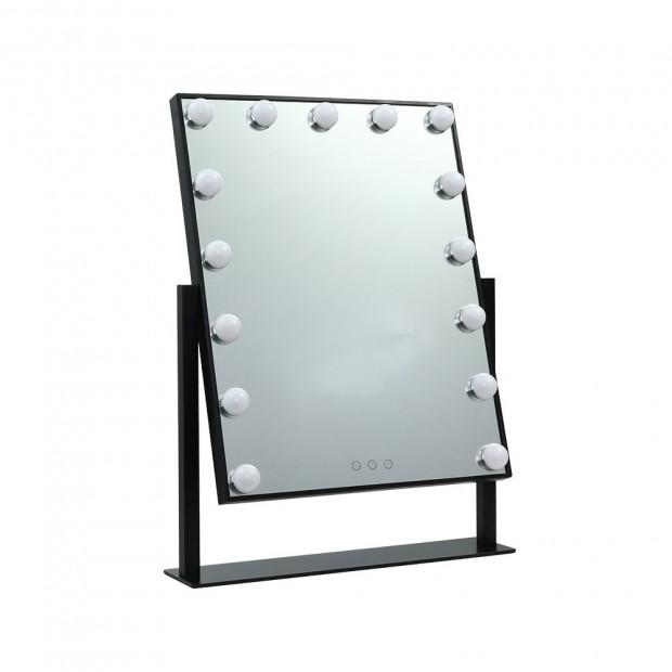 Hollywood Makeup Mirror Standing Mirror Tabletop Vanity 15 LED Bulbs