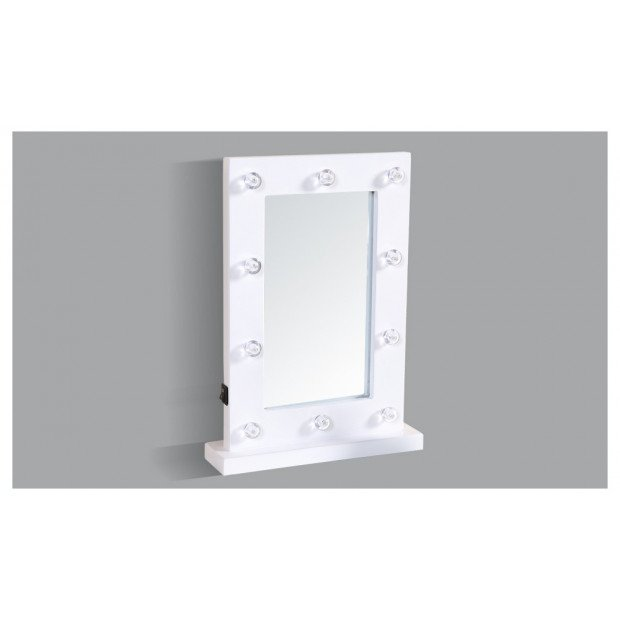 Dressing Makeup Vanity Mirror With 10 Led Lights  White Colour