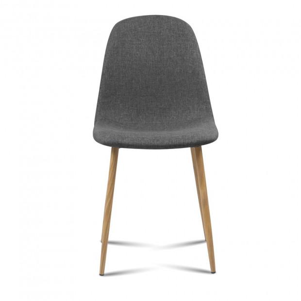 4x Adamas Fabric Dining Chairs - Dark Grey Image 2