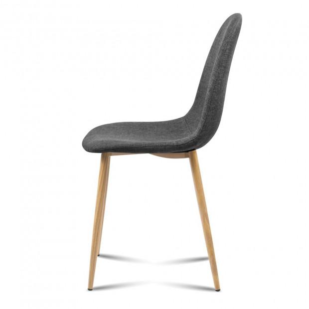 4x Adamas Fabric Dining Chairs - Dark Grey Image 3