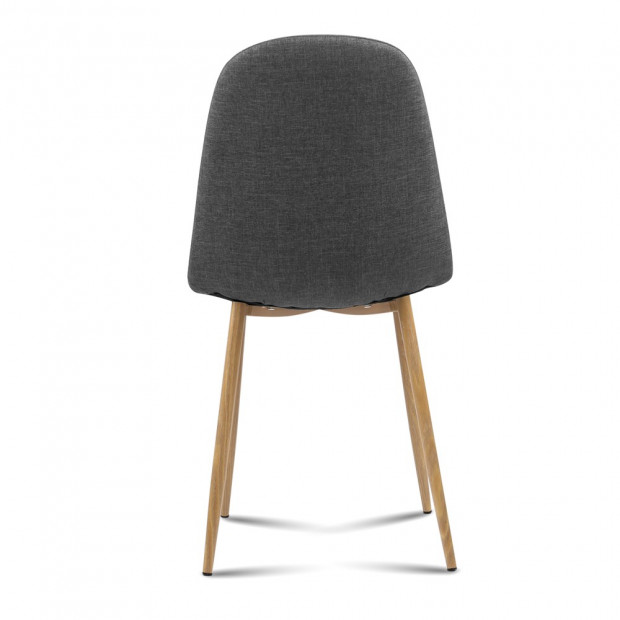 4x Adamas Fabric Dining Chairs - Dark Grey Image 4
