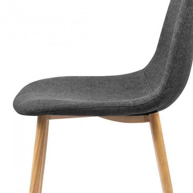 4x Adamas Fabric Dining Chairs - Dark Grey Image 5