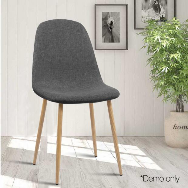 4x Adamas Fabric Dining Chairs - Dark Grey Image 7