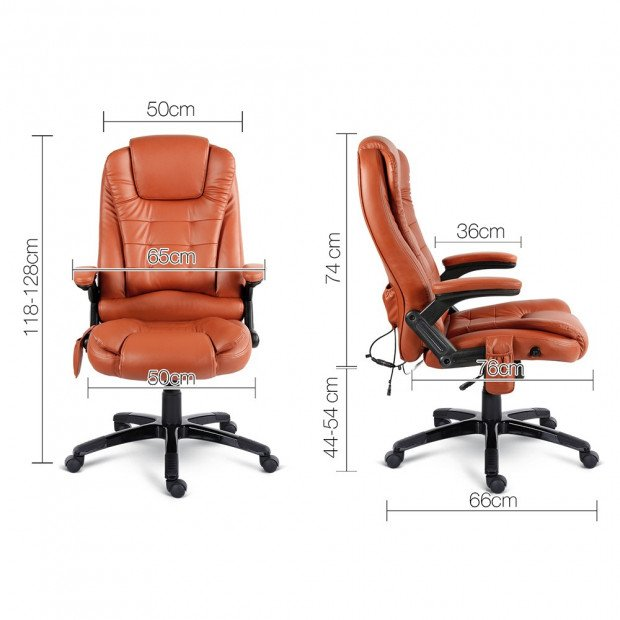 Pu Leather 8-point Massage Office Chair  Image 2