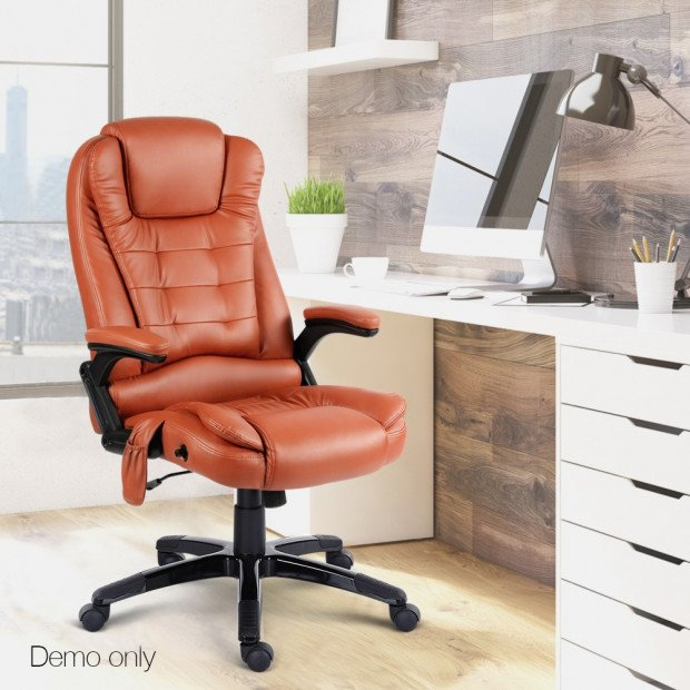 Pu Leather 8-point Massage Office Chair  Image 12