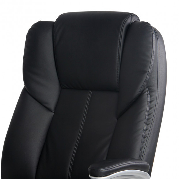 8 Point PU Leather Massage Chair - Black Image 6