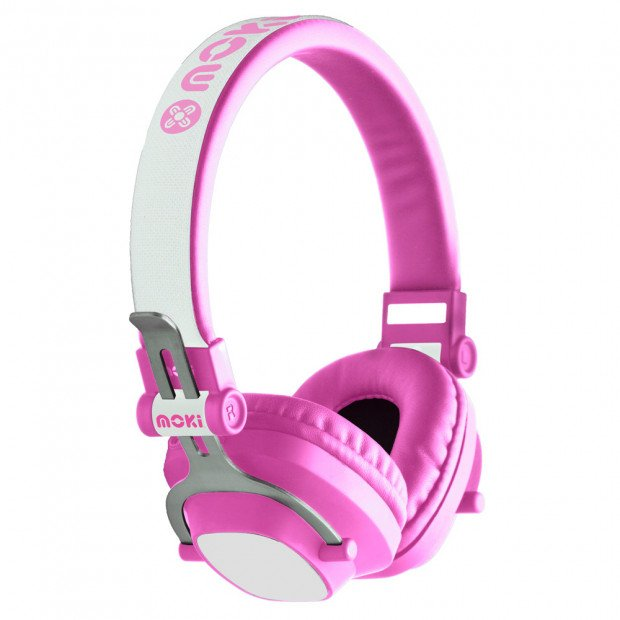 Moki Exo Kids Bluetooth Headphone - Pink