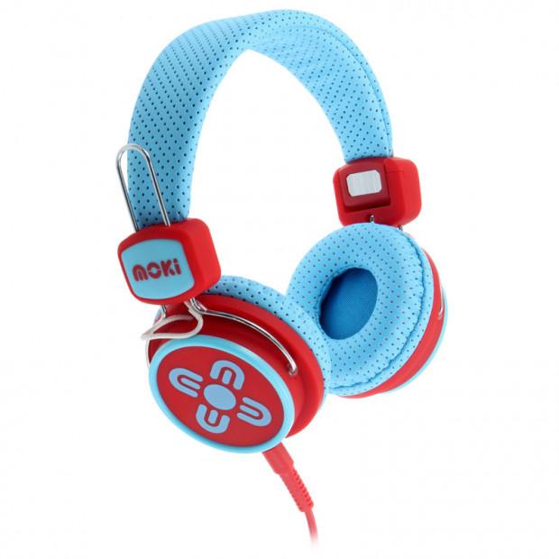 Moki Kids Safe Headphones- Blue/Red