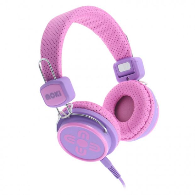Moki Kids Safe Headphones- Pink/Purple