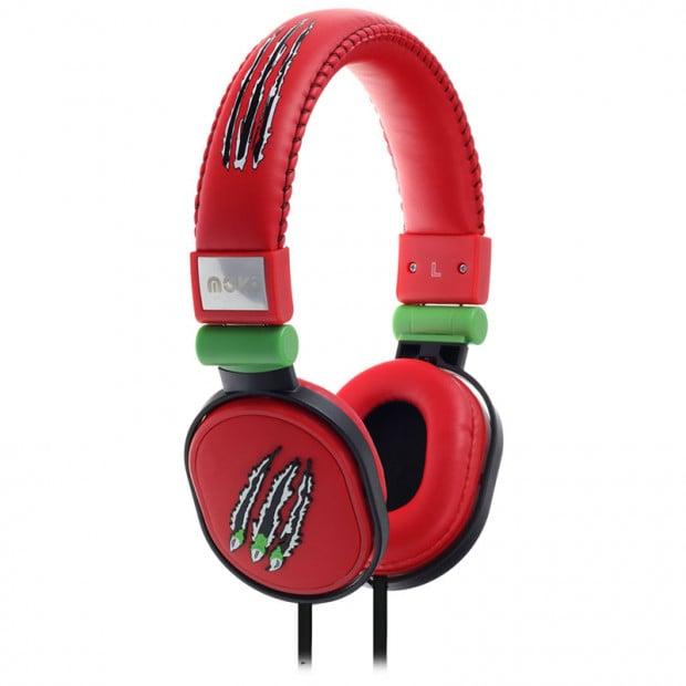 Moki Popper Headphones - Claw Red